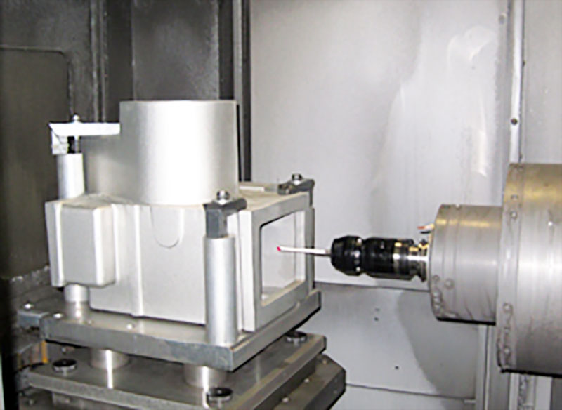 Renishaw probe on the Mori Seiki NH5000 High Precision Horizontal Machining Center